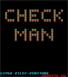 Title screen of Check Man on the Arcade.