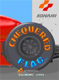 Title screen of Chequered Flag on the Arcade.