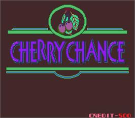 Title screen of Cherry Chance on the Arcade.