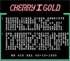 Title screen of Cherry Gold I on the Arcade.