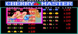 Title screen of Cherry Master on the Arcade.