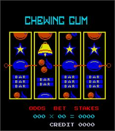 Title screen of Chewing Gum on the Arcade.