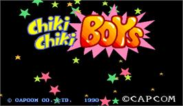 Title screen of Chiki Chiki Boys on the Arcade.