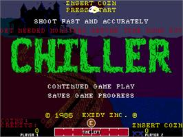Title screen of Chiller on the Arcade.
