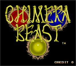 Title screen of Chimera Beast on the Arcade.