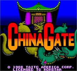 Title screen of China Gate on the Arcade.