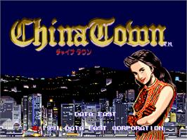 Title screen of China Town on the Arcade.