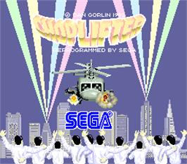 Title screen of Choplifter on the Arcade.
