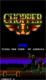 Title screen of Chopper I on the Arcade.
