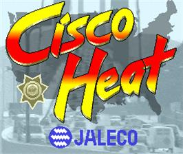 Title screen of Cisco Heat on the Arcade.