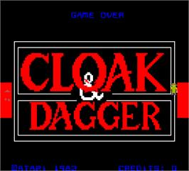 Title screen of Cloak & Dagger on the Arcade.