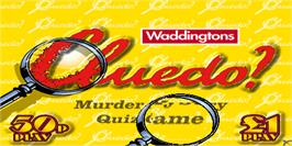 Title screen of Cluedo on the Arcade.