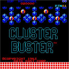 Title screen of Cluster Buster / Graplop on the Arcade.