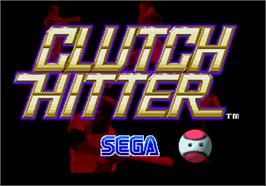 Title screen of Clutch Hitter on the Arcade.