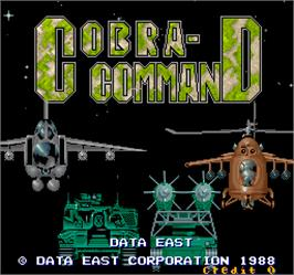 Title screen of Cobra-Command on the Arcade.