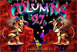 Title screen of Columns '97 on the Arcade.