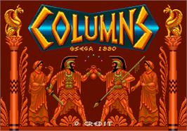 Title screen of Columns on the Arcade.