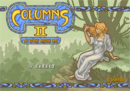 Title screen of Columns II: The Voyage Through Time on the Arcade.