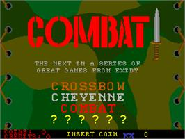 Title screen of Combat on the Arcade.