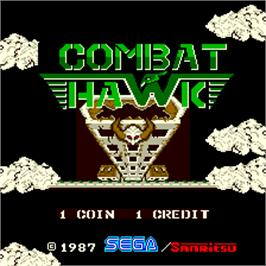 Title screen of Combat Hawk on the Arcade.