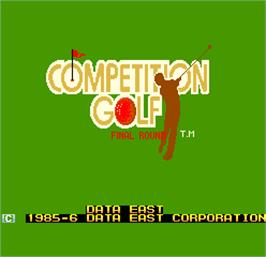 Title screen of Competition Golf Final Round on the Arcade.