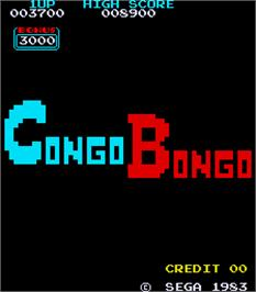 Title screen of Congo Bongo on the Arcade.