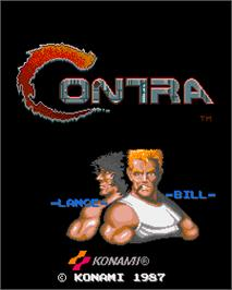 Title screen of Contra on the Arcade.