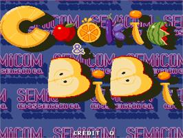 Title screen of Cookie & Bibi on the Arcade.