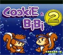 Title screen of Cookie & Bibi 2 on the Arcade.