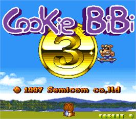 Title screen of Cookie & Bibi 3 on the Arcade.