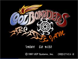 Title screen of Cool Boarders Arcade Jam on the Arcade.