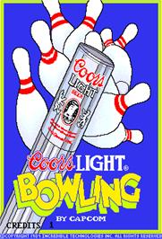 Title screen of Coors Light Bowling on the Arcade.