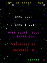 Title screen of Cosmic Alien on the Arcade.
