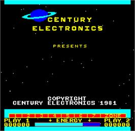 Title screen of Cosmos on the Arcade.