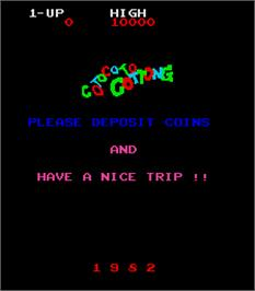 Title screen of Cotocoto Cottong on the Arcade.