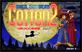 Title screen of Cotton 2 on the Arcade.