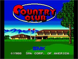 Title screen of Country Club on the Arcade.