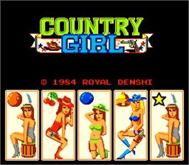 Title screen of Country Girl on the Arcade.