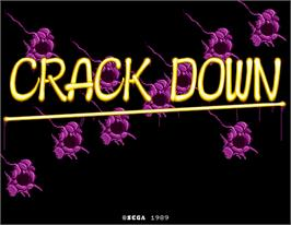 Title screen of Crack Down on the Arcade.