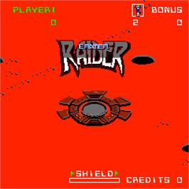 Title screen of Crater Raider on the Arcade.