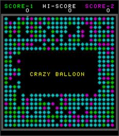 Title screen of Crazy Balloon on the Arcade.