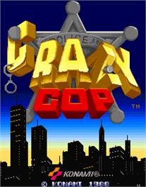 Title screen of Crazy Cop on the Arcade.