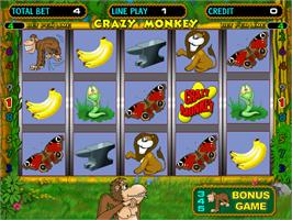 Title screen of Crazy Monkey on the Arcade.