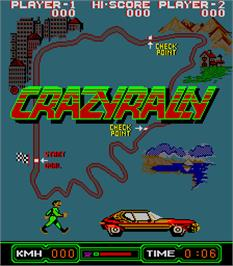 Title screen of Crazy Rally on the Arcade.