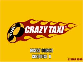 Title screen of Crazy Taxi on the Arcade.