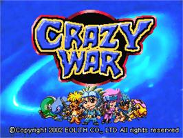 Title screen of Crazy War on the Arcade.