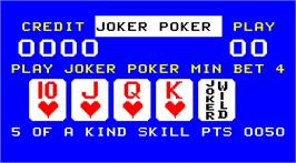 Title screen of Credit Poker on the Arcade.
