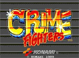 Title screen of Crime Fighters on the Arcade.