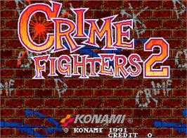 Title screen of Crime Fighters 2 on the Arcade.