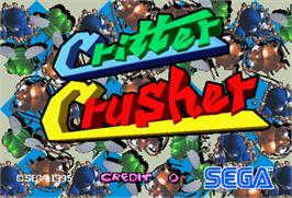 Title screen of Critter Crusher on the Arcade.